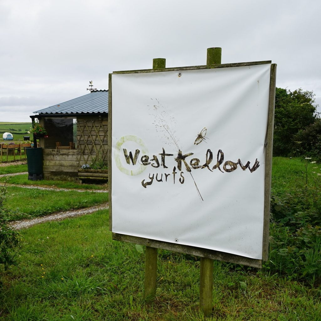 West Kellow yurts sign