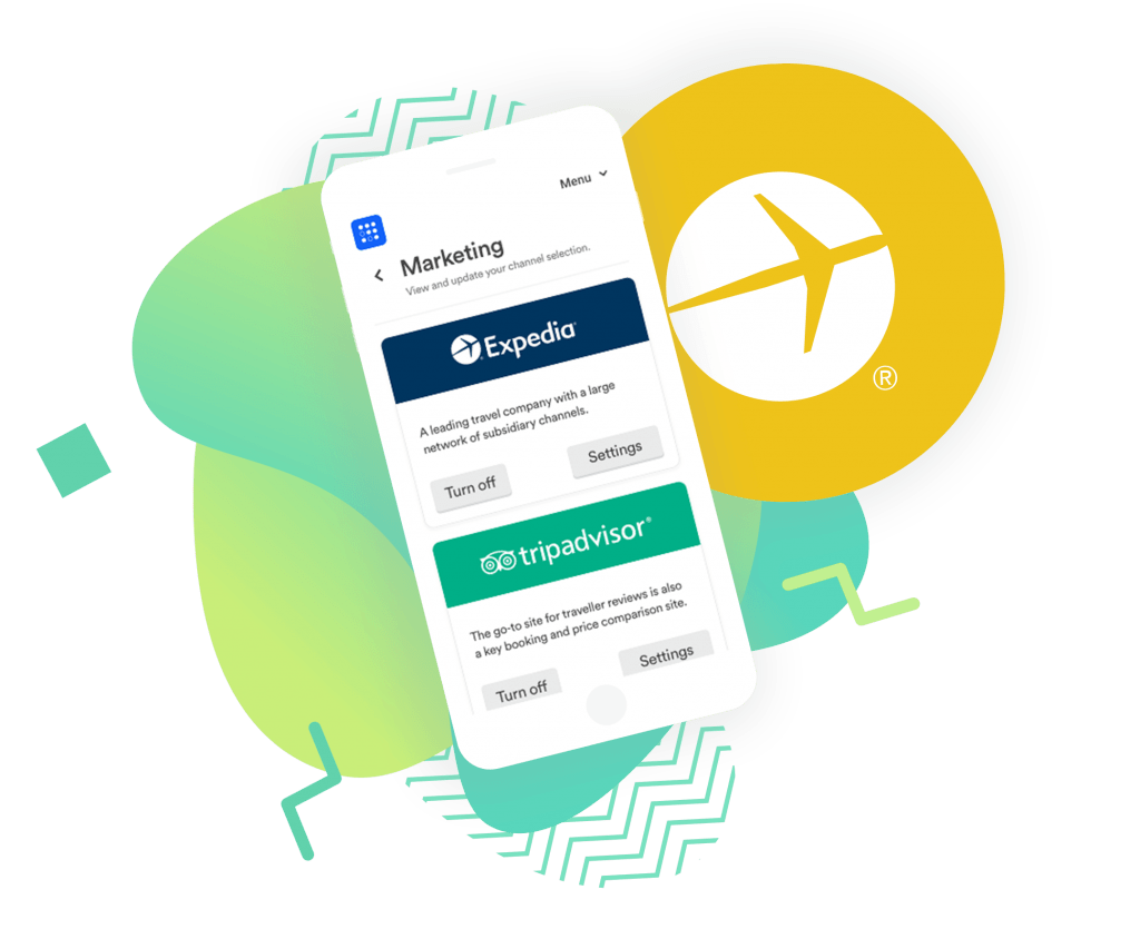 image of Expedia option in the TravelNest account