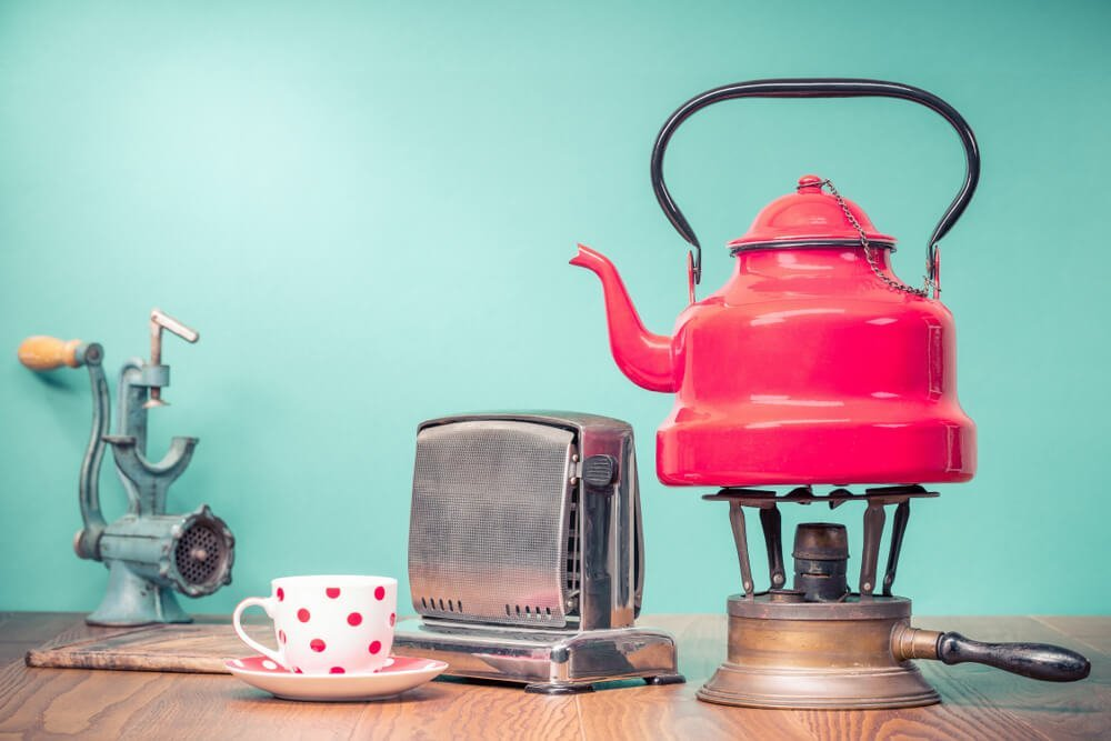 Retro kitchen appliances