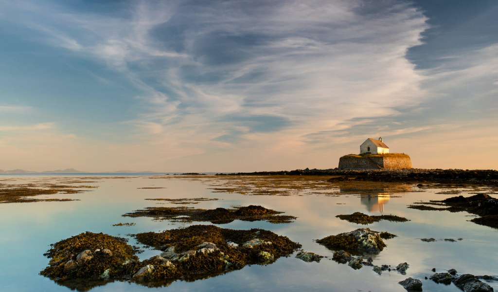 St Cwyfan's Church on Anglesey, Wales