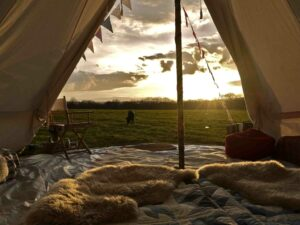 Leaping Water Bell Tent, Richmond, North Yorkshire